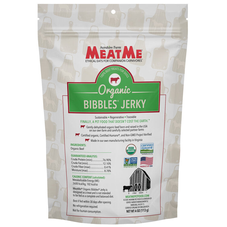 Load image into Gallery viewer, Organic Bibbles® Beef Jerky for Dogs