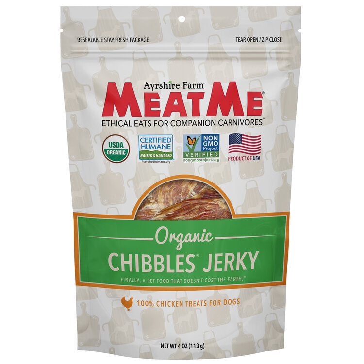 Organic Chibbles® Chicken Jerky for Dogs