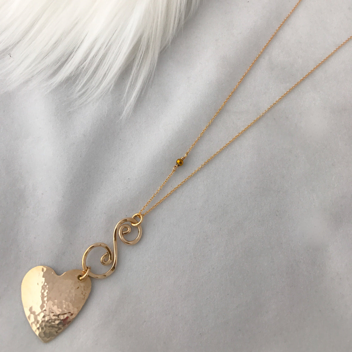 "Wear it ""two ways"" Heart Necklace"