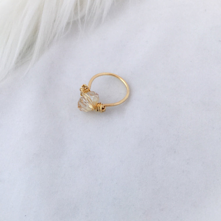 Wire Crystal Ring