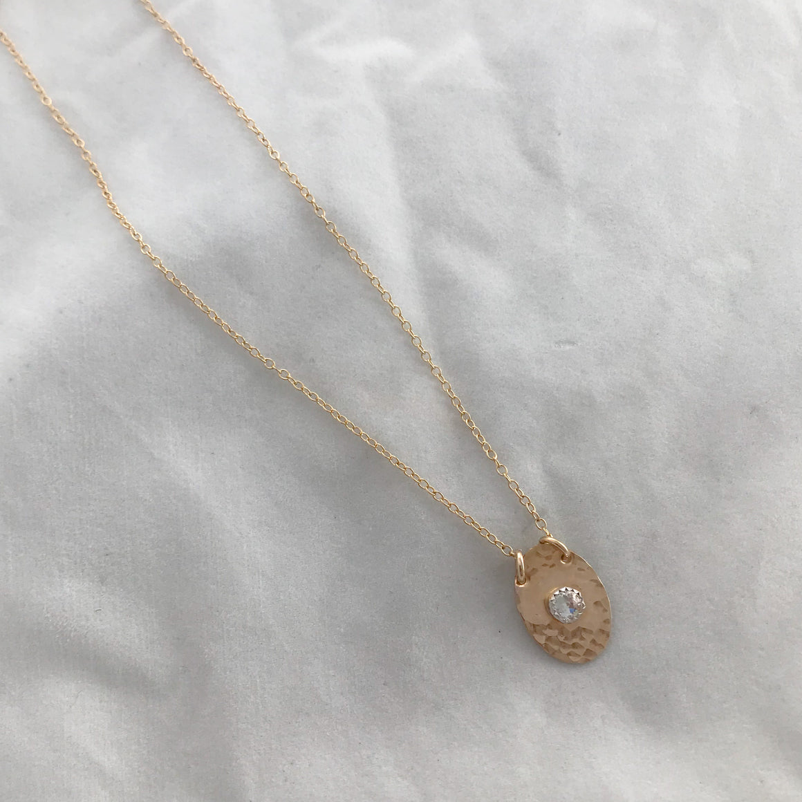 Oval Birthstone Necklace