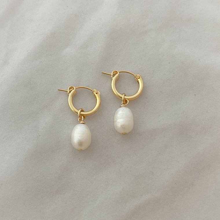Baby Hoops with pearl- RxJ