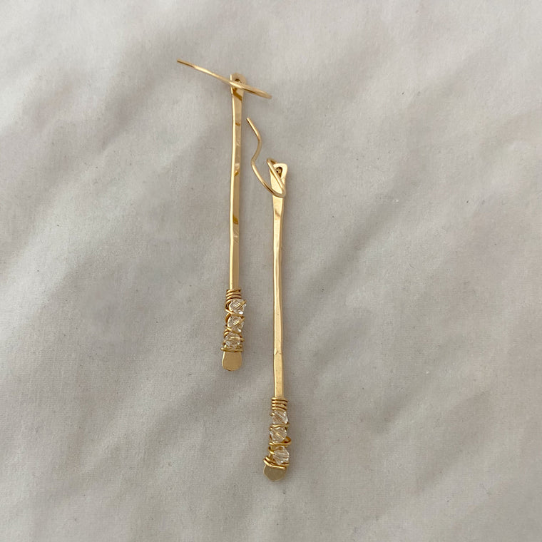 Sparkle stick earrings