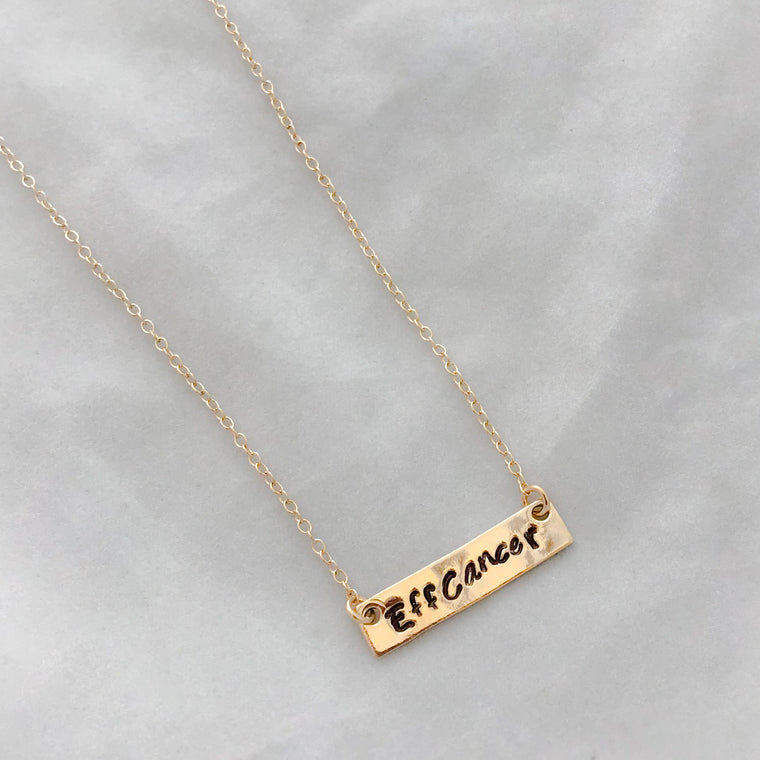 Eff Cancer Necklace- small