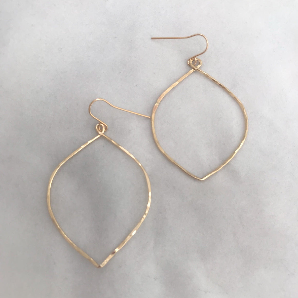 Large marquise hoops
