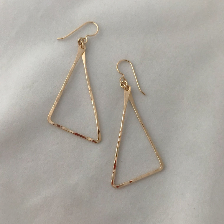 Wired Triangles Earrings