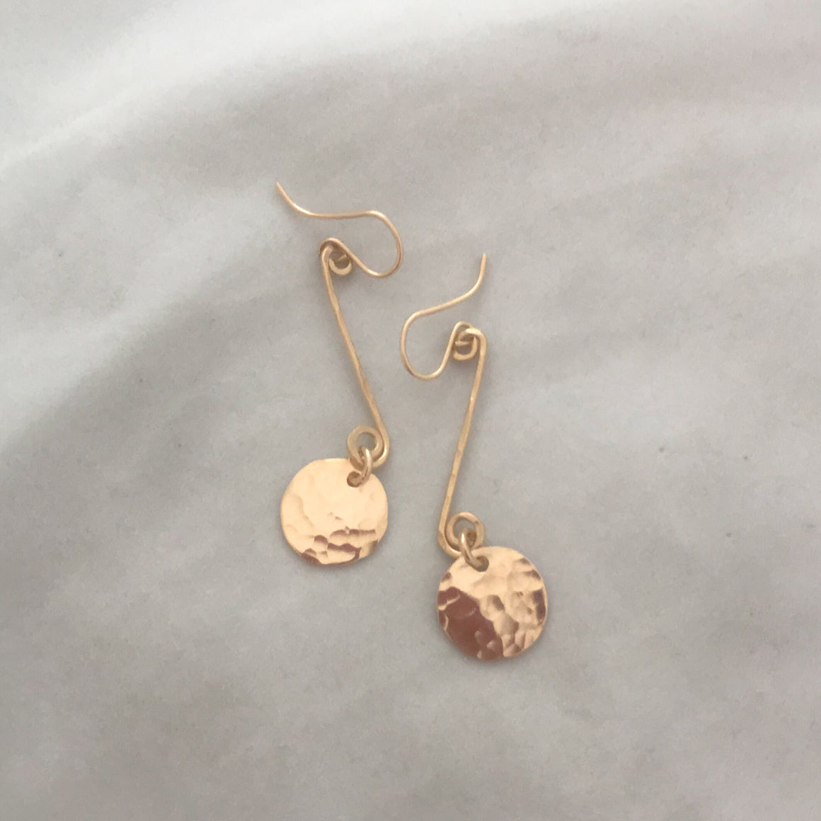 Coin and Bar Earring