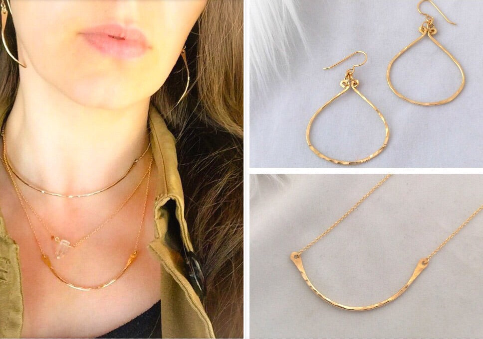Deal of the Week - Balance Necklace & oval hoops