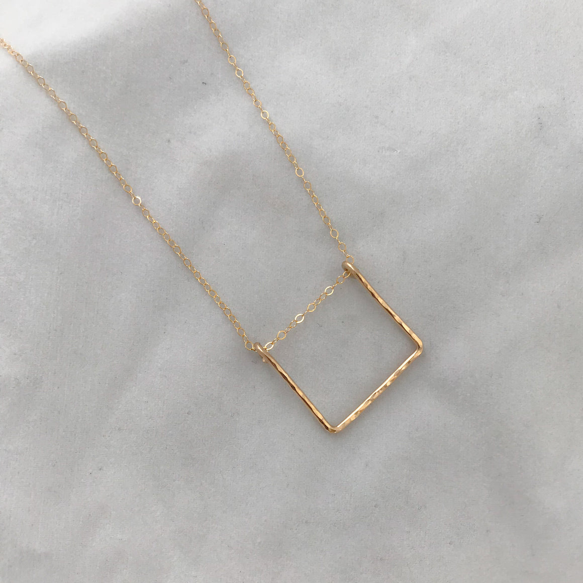 Wire Square Necklace
