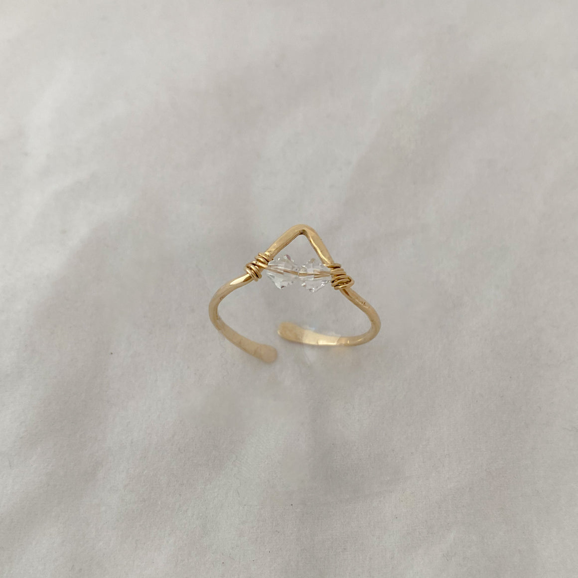 Sparkle chevron ring adjustable band