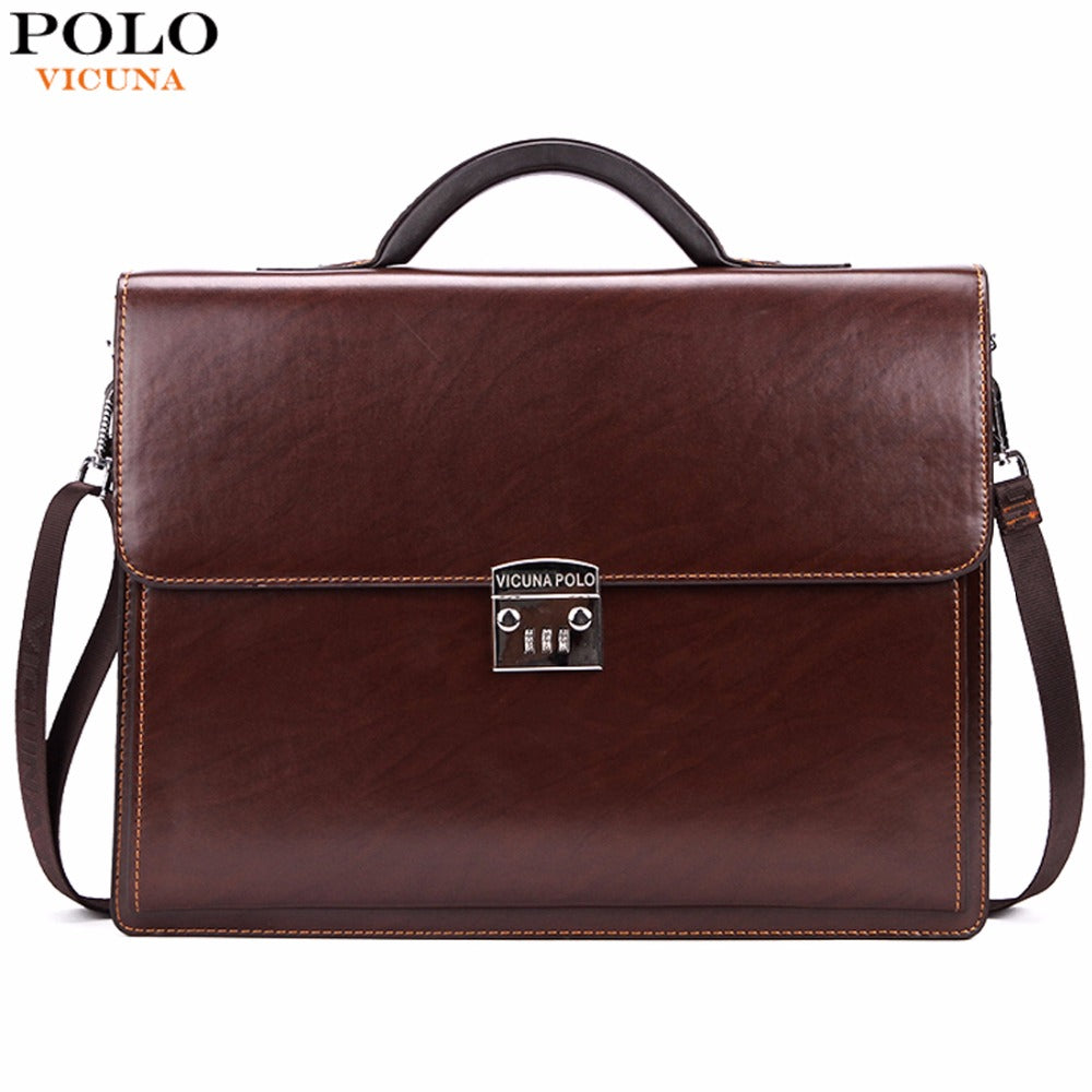 Luxury Business Mens Briefcase With Code-Lock