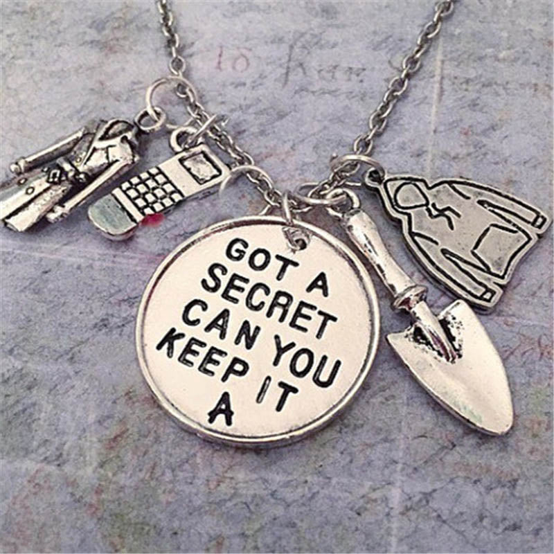 "12pcs/lot Pretty Little Liars necklace ""Got a secret can you keep it"""