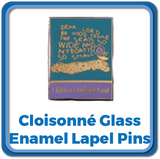 cloisonne glass enamel lapel pins