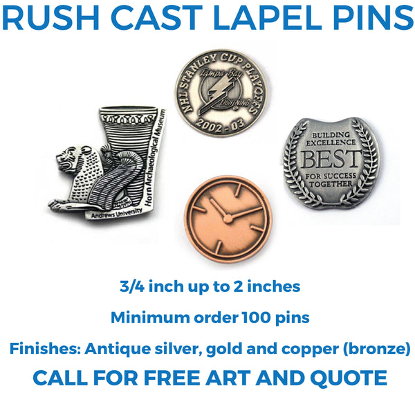 Rush Cast Lapel Pins