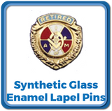 Synthetic Glass enamel Lapel Pins