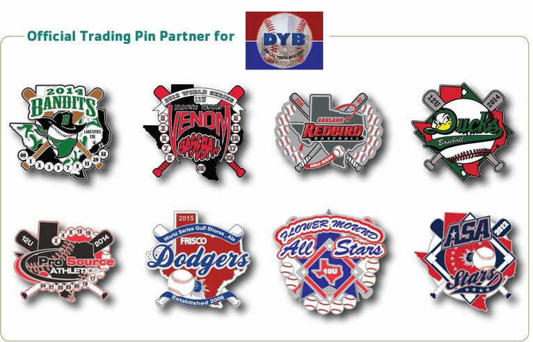 Dallas Youth Baseball Trading Pins - SteelBerry Pins