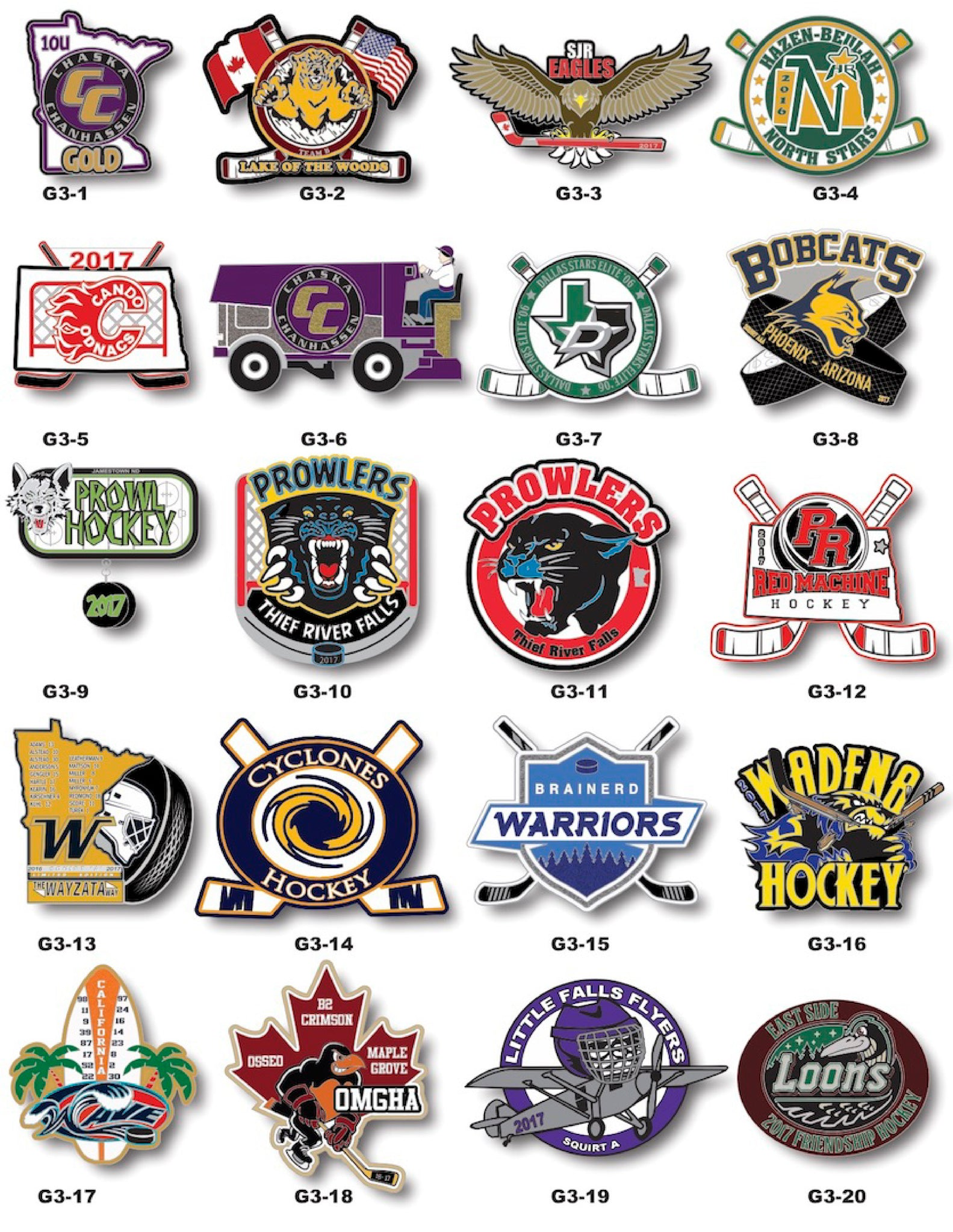 Hockey Trading Pin Gallery #3 - SteelBerry Pins