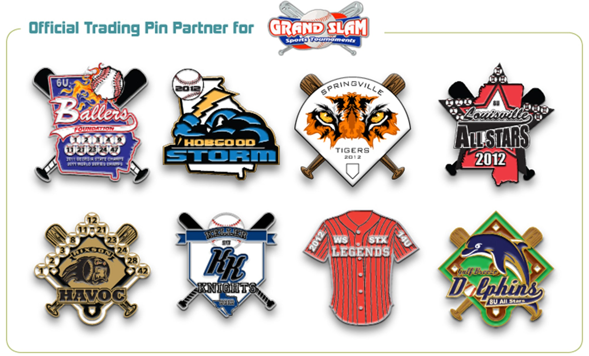 Grand Slam Trading Pins - SteelBerry Pins
