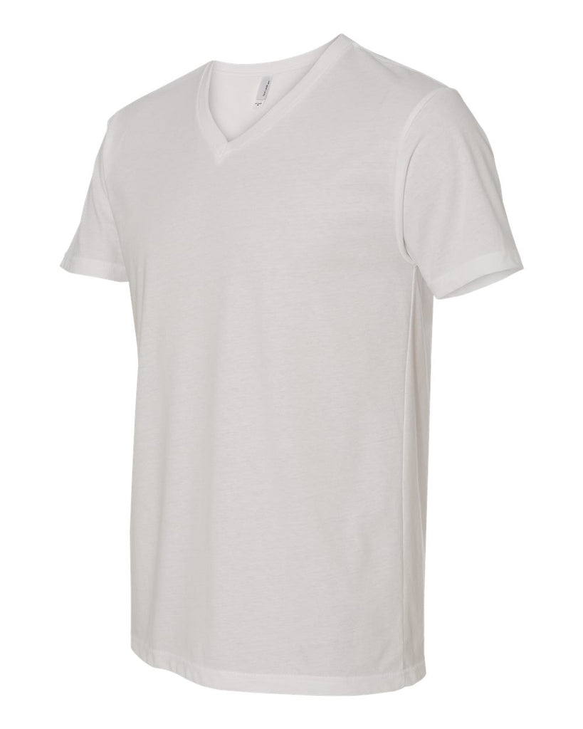 Suede White V Neck Undershirt