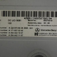 2011 MERCEDES BENZ W212 E550 HARMAN BECKER MEDIA INTERFACE CONTROL A2048708026