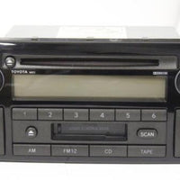 2002-2004 Toyota Camry 16823 Radio Am/Fm Cassette  Cd Player 86120-AA040