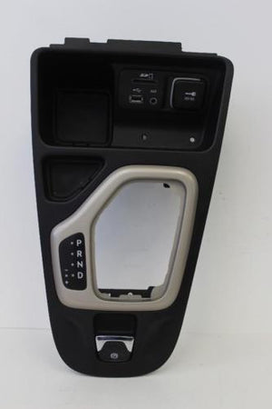 2015 Cherokee Floor Shifter Bezel W/ Power Outlet Aux In Sd Card Usb Connection