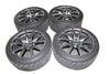 "12-15 GTR R35 OEM 20"" RAYS WHEELS & DUNLOP TIRES RUNFLAT VERY GOOD SET NICE 12K"