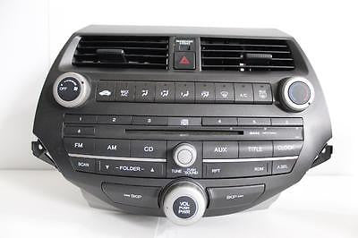 2008-2012 Honda Accord Radio Stereo Cd Player Climate Control 4ba0
