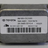 2002-2007 Toyota Sequoia Stability Yaw Rate Turn Sensor 89183-Oc020