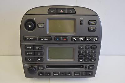 2004-2008 JAGUAR X-TYPE RADIO STEREO CD PLAYER CLIMATE CONTROL 4 X 43-18B876-AD