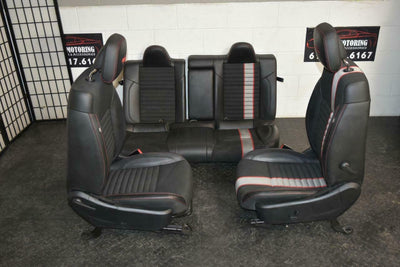 12-14 Dodge Avenger RT Black Red SEATS SET FRONT AND REAR R/T Embroidery