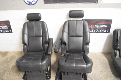 2007 - 2014  TAHOE YUKON ESCALADE EBONY/BLACK LEATHER 2ND ROW SEATS SWB
