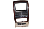 07 08 Explorer Mountaineer Radio Bezel Wood Tan Black