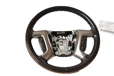 07 08 09 10 11 12 13 14 Escalade Yukon Denali Steering Wheel Leather & Wood Finish