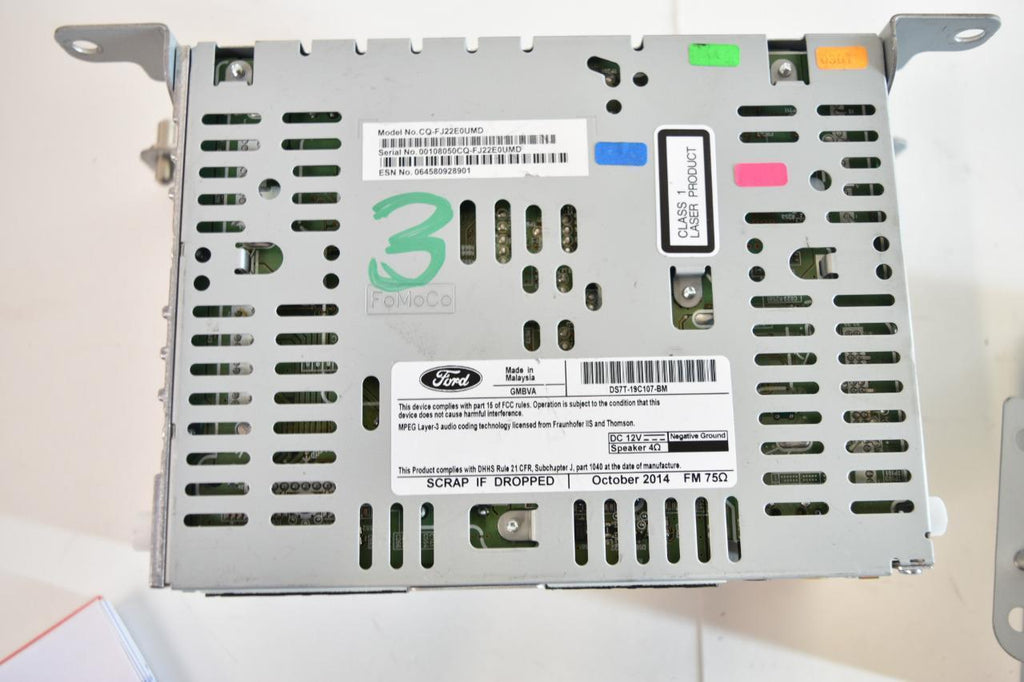 13 14 15 16 FORD FUSION RADIO CD PLAYER DISPLAY TOUCH SCREEN