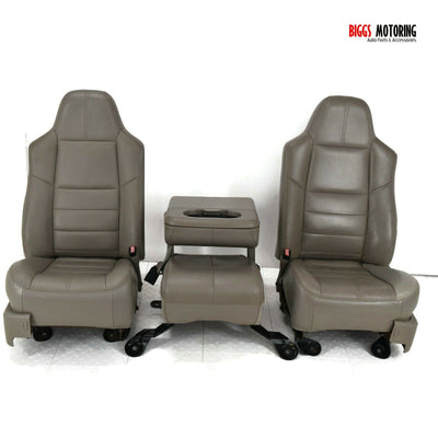 2008-2010 Ford F250 Front Driver & Passenger Side Seat W/ Center Jump Seat