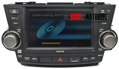 2008-2010 Toyota Highlander Navigation Radio Cd Player Touch Screen 86120-48F30