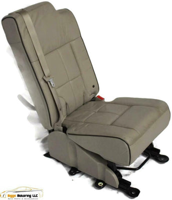 07-17 Ford Navigator Expedition Middle Center 2Nd Row Jump Seat  Leather Tan
