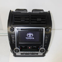 2012-2014 TOYOTA CAMRY RADIO NAVIGATION DISPLAY SCREEN CLIMATE CONTROL