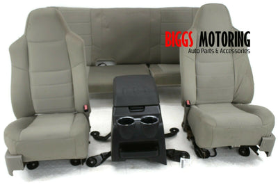2008-2010 Ford F350 Super Duty Front & Rear Seats W/ Center Console