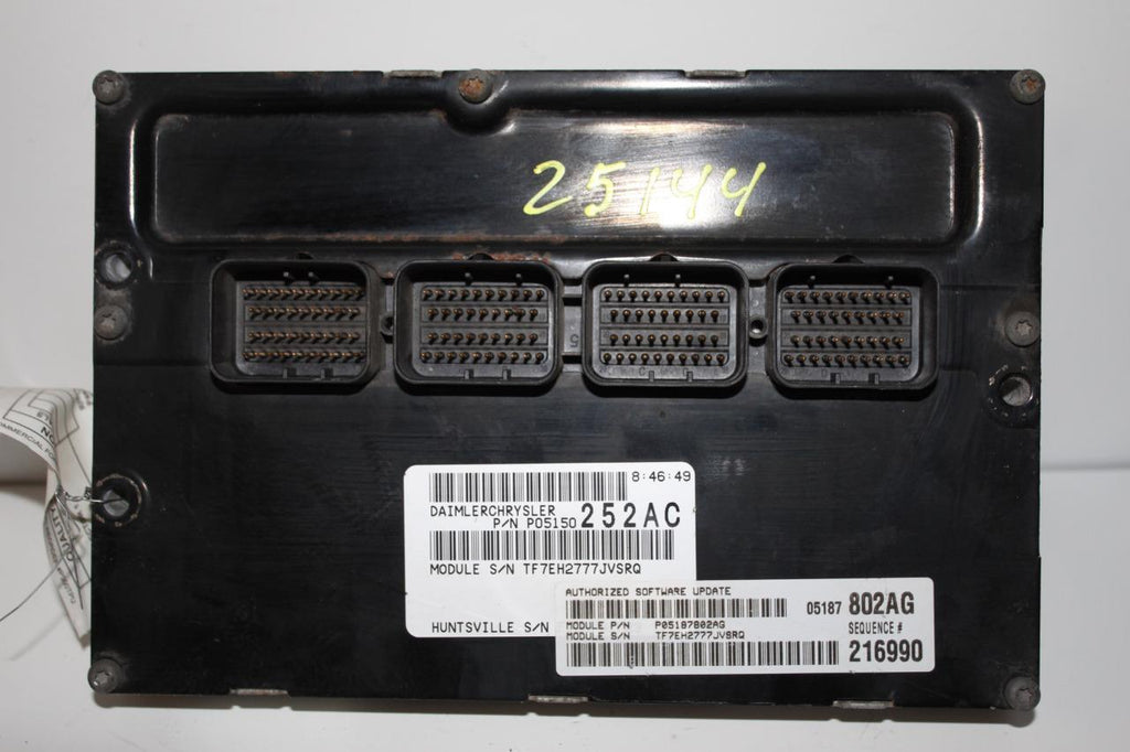 2008-2009 Grand Caravan Town & Country Engine Computer Module P05150252AC