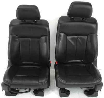 2011-2014 Ford F150 Front Passenger / Driver Side Leather Seat Black