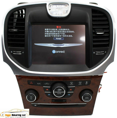 2011-2014 Chrysler 300 Radio Cd Mechanism Display Screen Ac Control 05064632AI