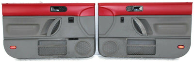 2005-2010 VW Beetle Front Passenger & Driver Side Door Panels Red & Gray