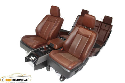 2007-2014 FORD EXPEDITION KING RANCH FULL SET SEATS 3 ROWS WITH CONSOLE