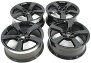 2010-2015 Chevy Camero SS Black 5 Spoke Wheel Rim Set Of 4 Aluminum 20x8