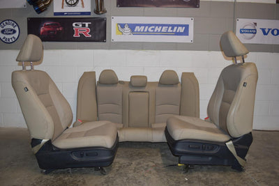 2013-2017 HONDA ACCORD 4 DOOR LEATHER TAN SEATS FRONT & REAR  SEDAN EX