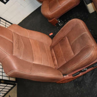 99-2010 FORD SD F250 F350 KING RANCH FRONT & rear LEATHER BUCKETS SEAT console