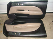 97-01 PRELUDE DOOR PANELS R&L BLACK/ TAN LEATHER 2 TONE