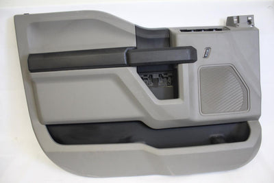 2015-2017 FORD F150 FRONT DRIVER  SIDE DOOR PANEL GRAY
